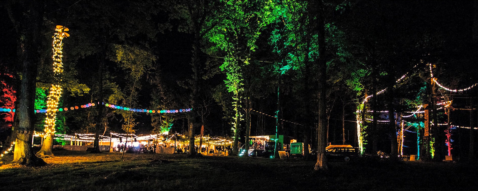 Harewood Forest Events at night